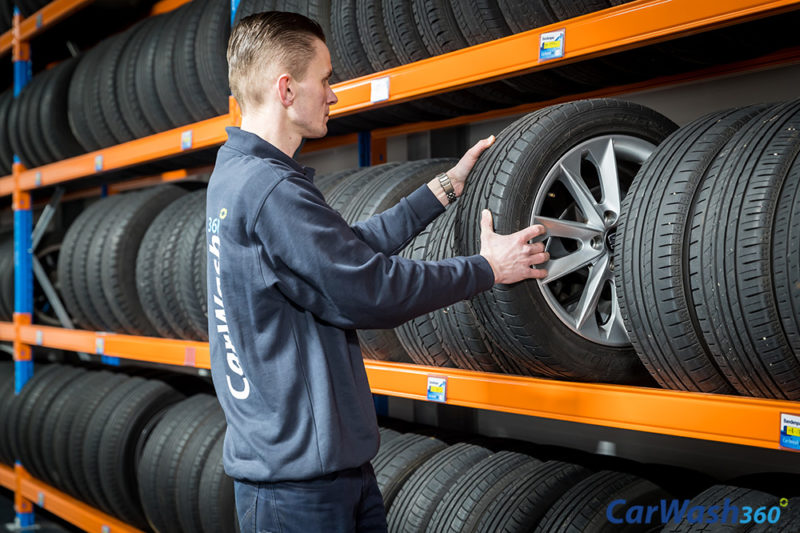 CarWash360 auto banden velgen wisselen demonteren monteren opslag bandenhotel