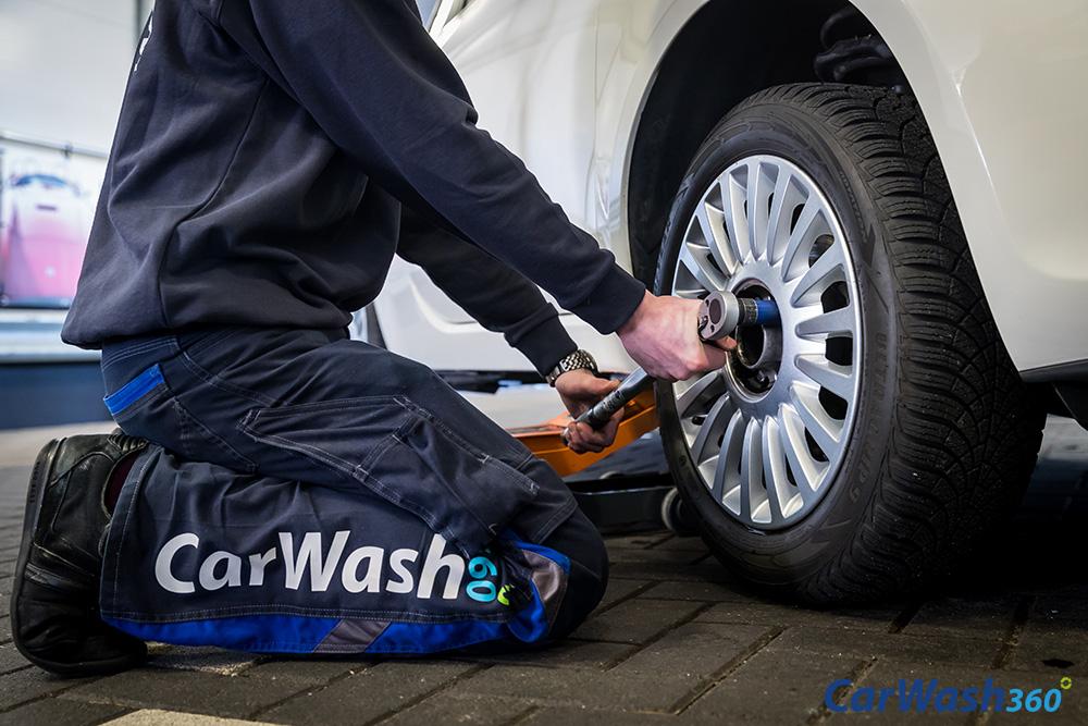 CarWash360 auto banden velgen wisselen demonteren monteren